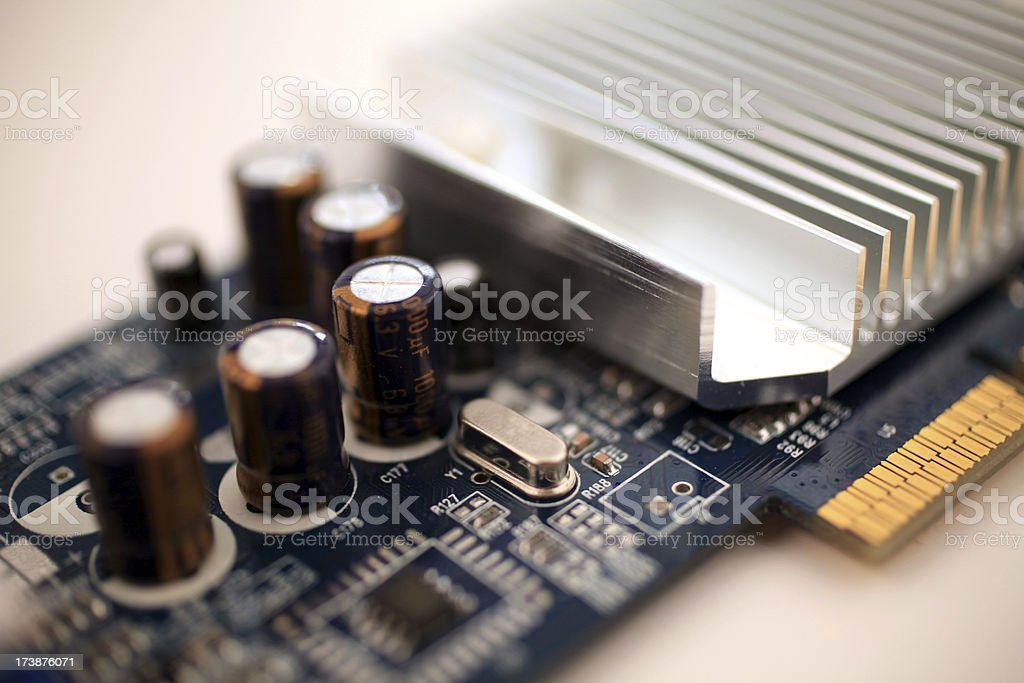 graphics card closeup royalty-free stock photo
