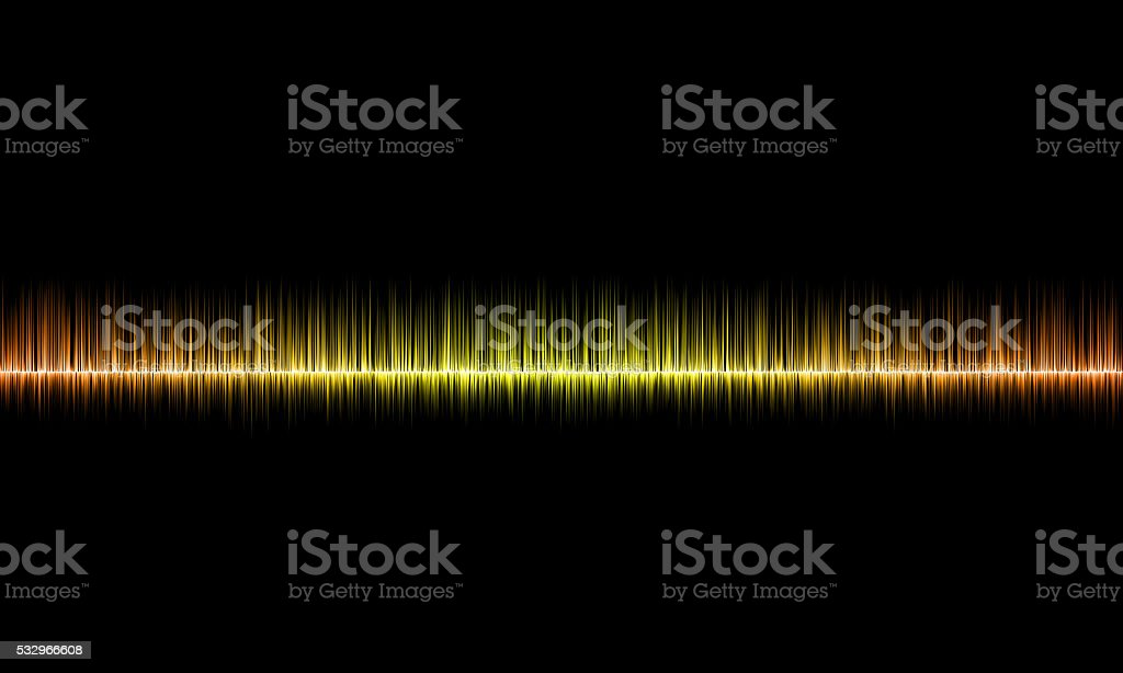 Graphics of music equalizer on black background stock photo