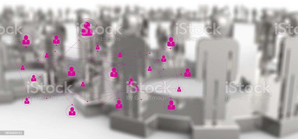 graphics pink human social network royalty-free stock photo