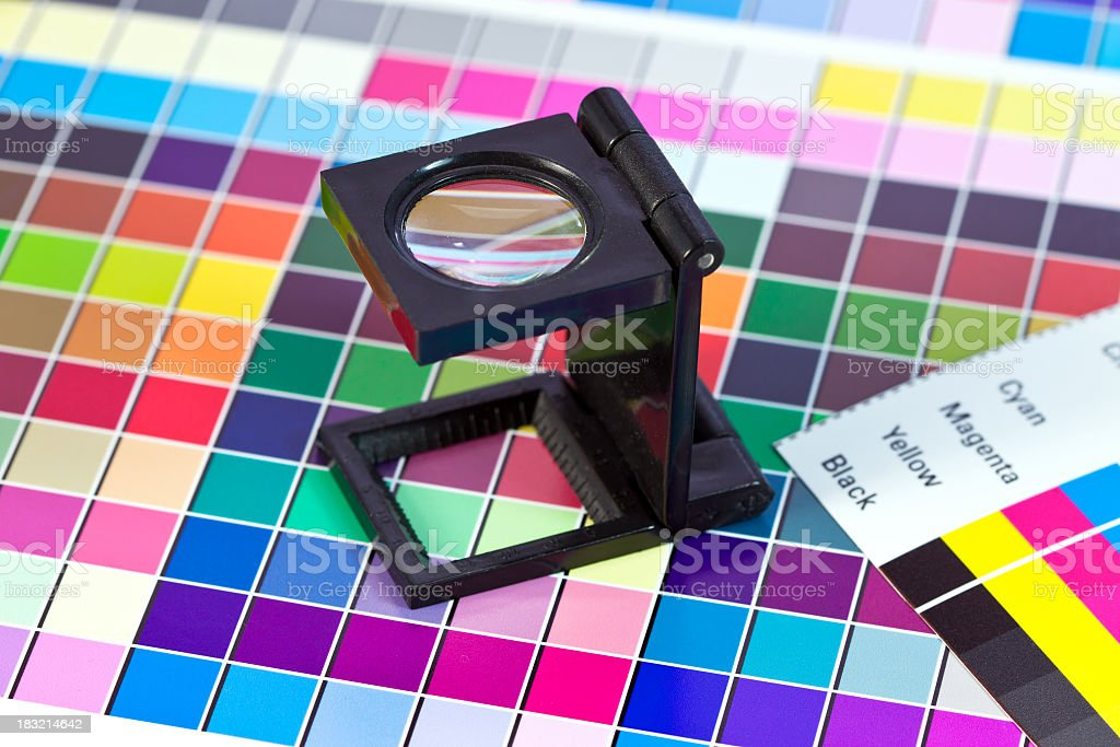 Graphics tool - magnifyin gglass stock photo