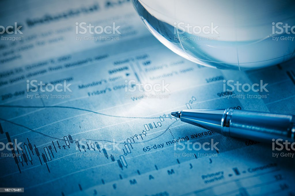 graphing progress royalty-free stock photo