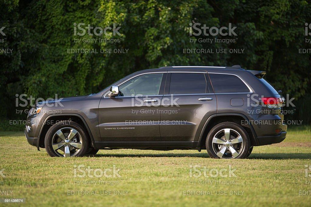 Graphite Jeep Grand Cherokee Limited 2016 stock photo
