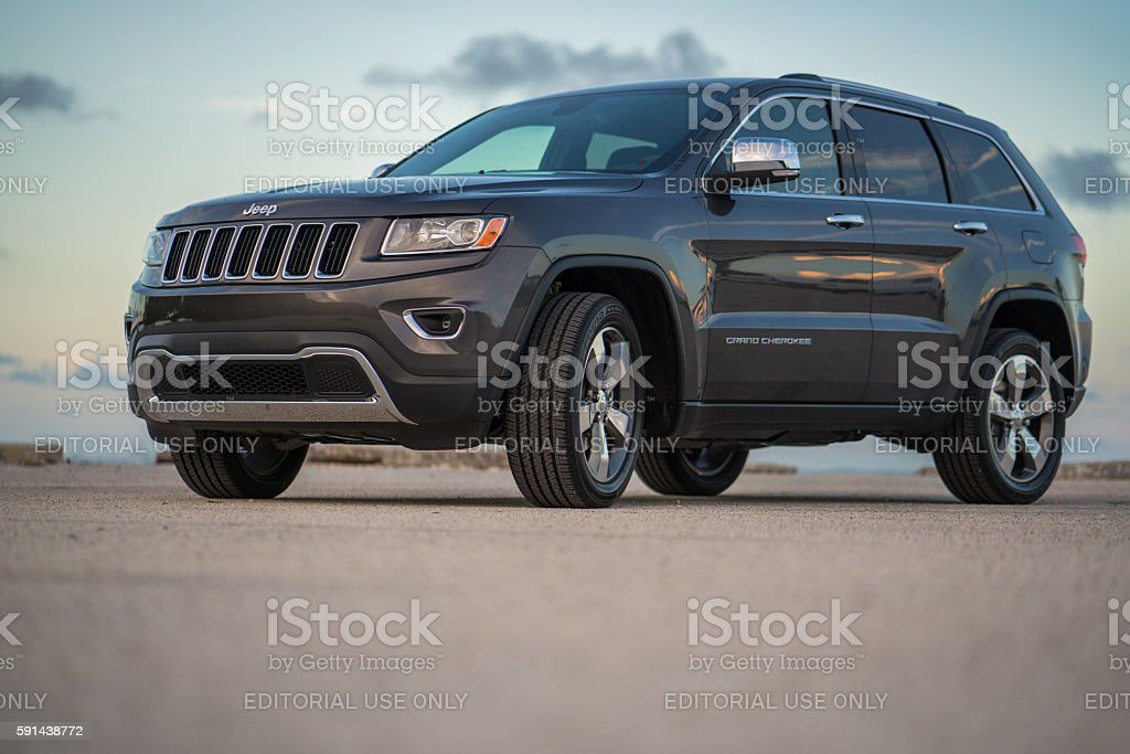 Graphite Jeep Grand Cherokee Limited 2016 stock photo