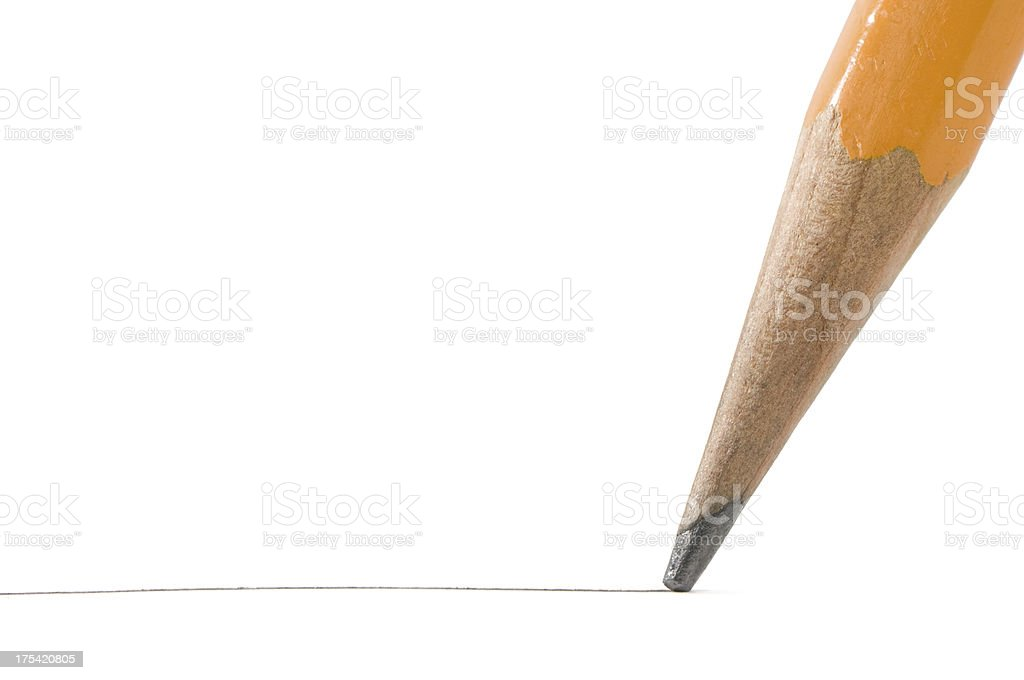 Graphite pencil macro stock photo