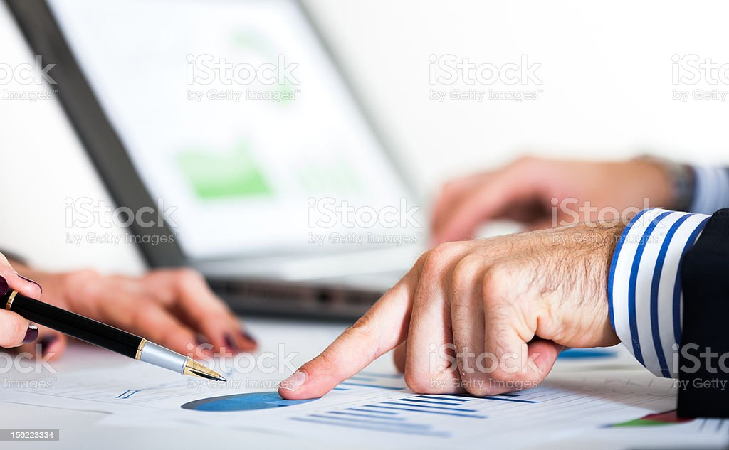 Graphs analisys royalty-free stock photo