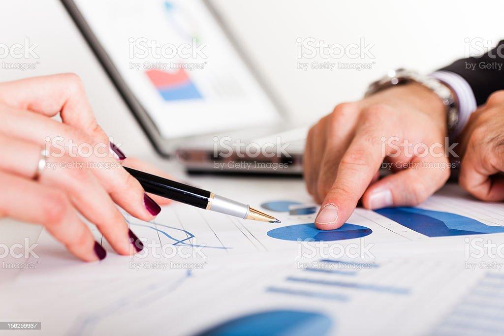 Graphs analisys royalty-free stock photo