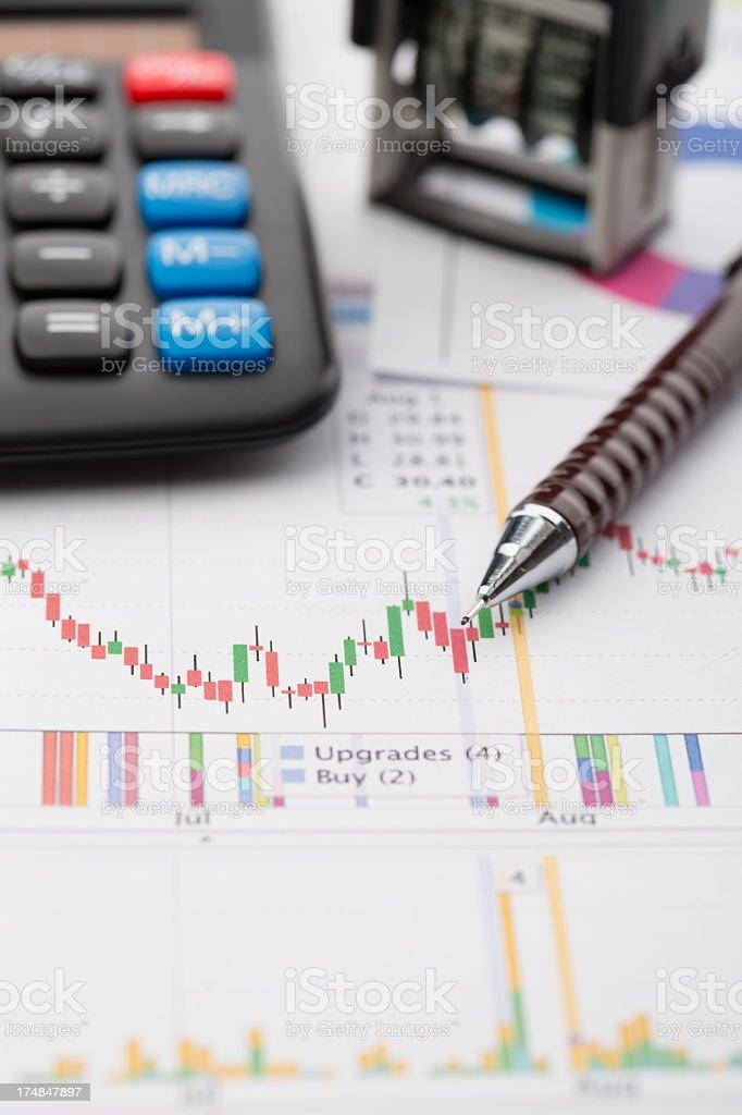 Graphs and charts royalty-free stock photo