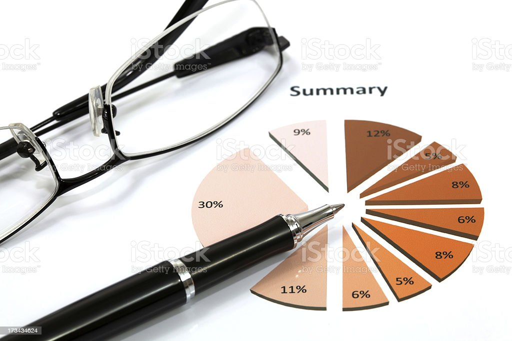 Graphs and Charts Report royalty-free stock photo