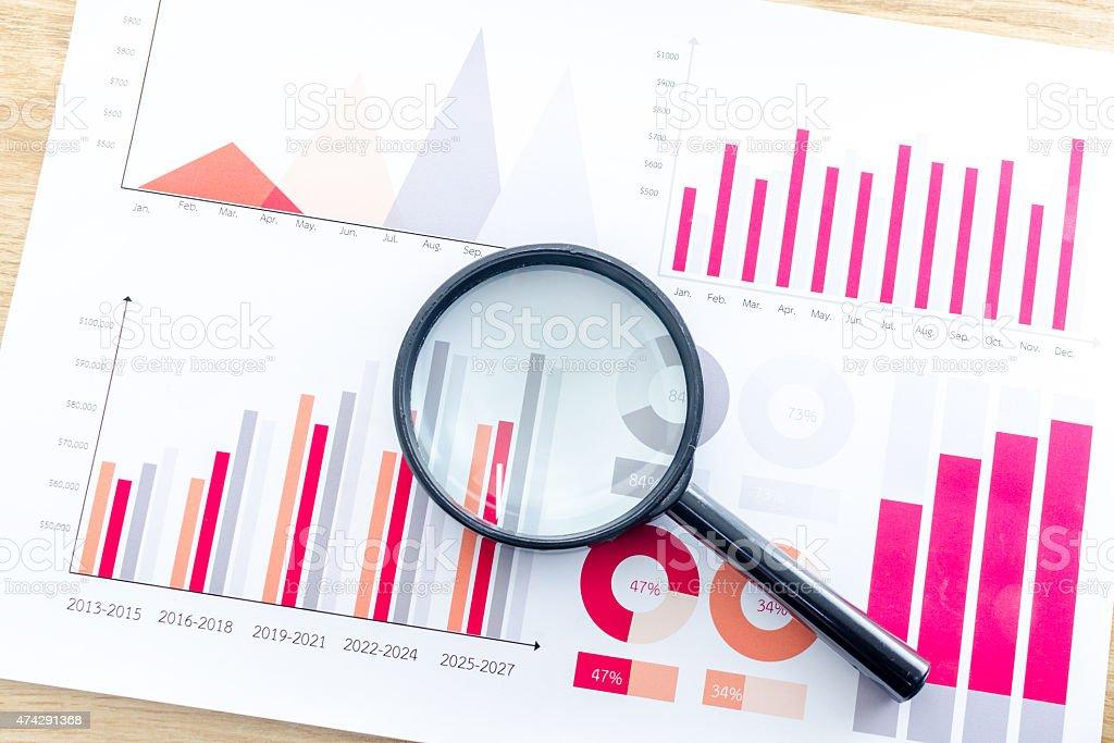 Graphs stock photo