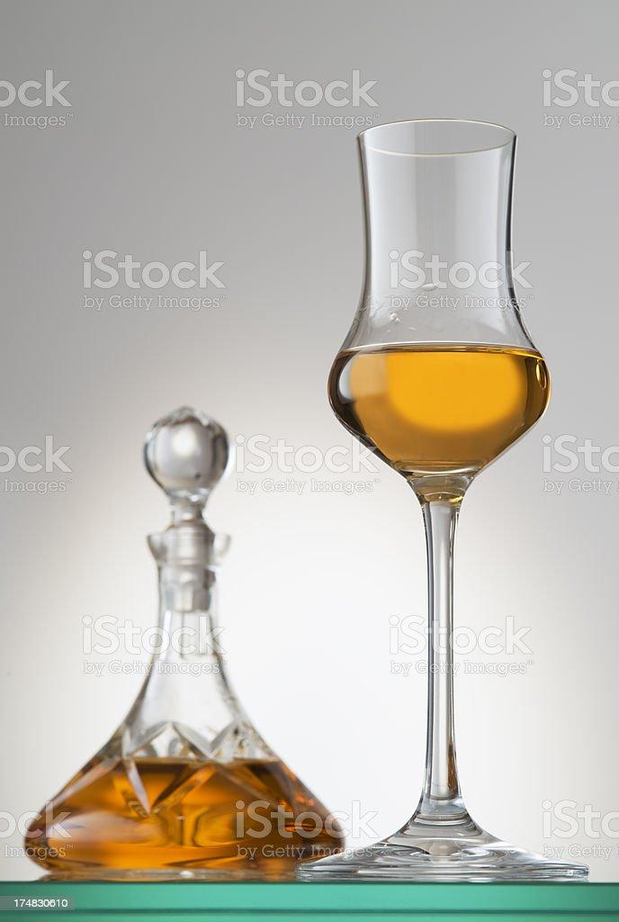 Grappa Riserva, Cognac,Brandy stock photo