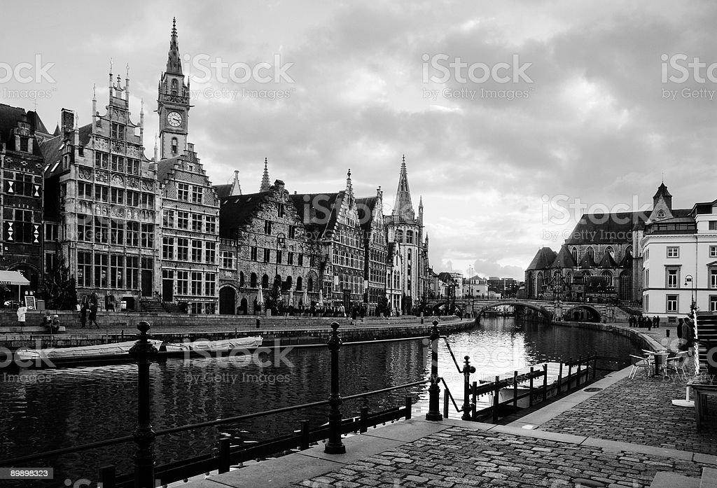 Graslei, Ghent stock photo