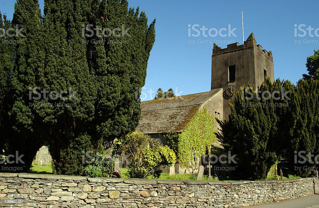 Grasmere Church royalty-free stock photo