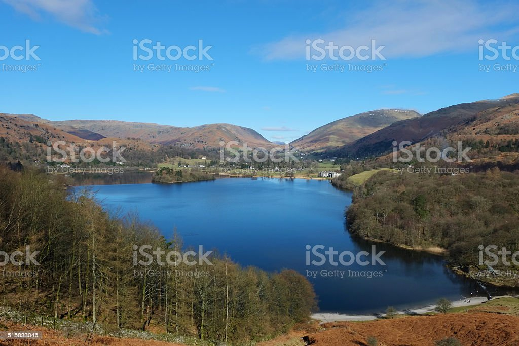 Grasmere From Loughrigg Fell stock photo