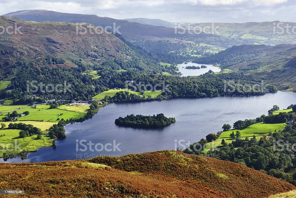Grasmere from Silver Howe stock photo