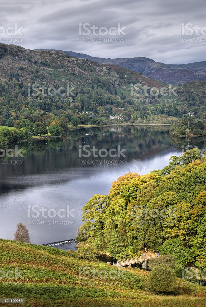 Grasmere in early Autumn royalty-free stock photo