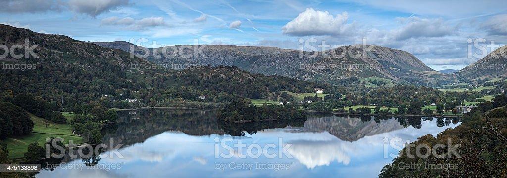 Grasmere panorama stock photo