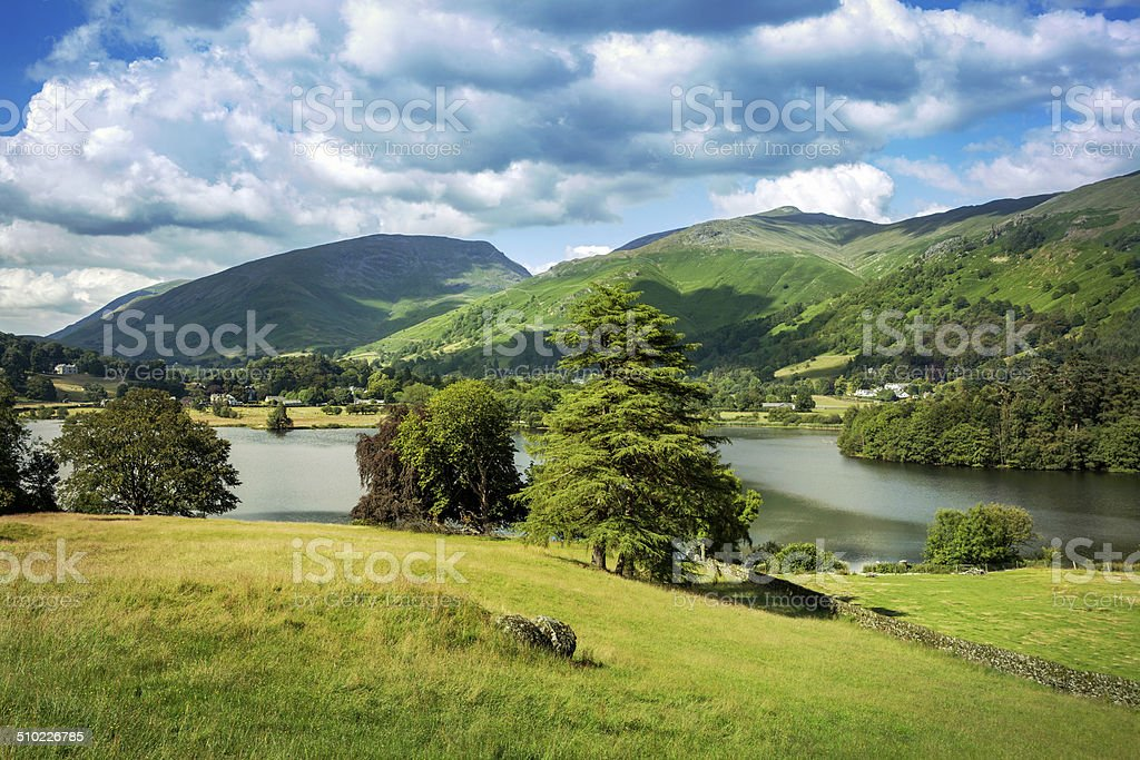 Grasmere village in English Lake Dictrict. stock photo