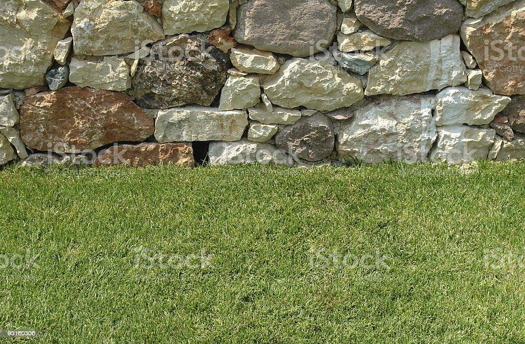 Grass & rocks royalty-free stock photo