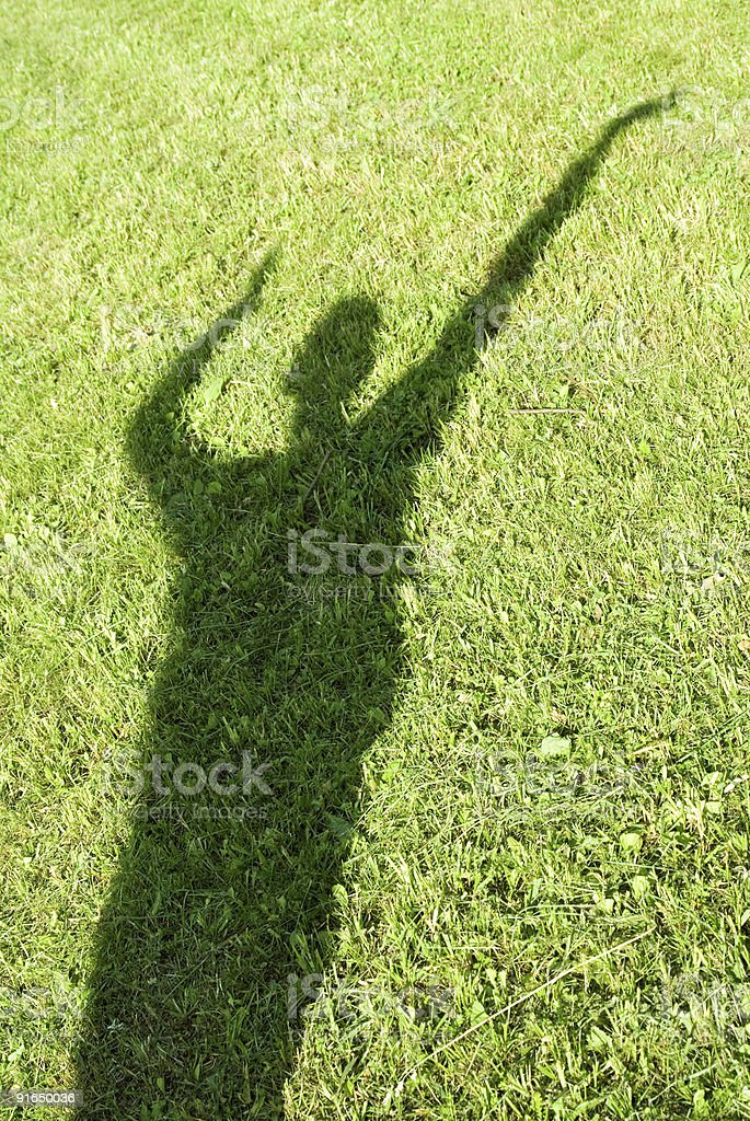 Grass and sunshine royalty-free stock photo