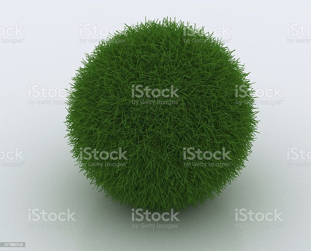 Grass ball royalty-free stock photo