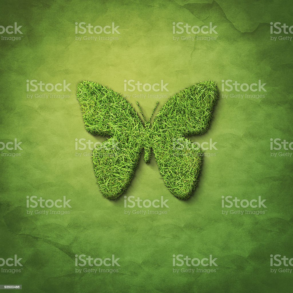 grass butterfly royalty-free stock photo