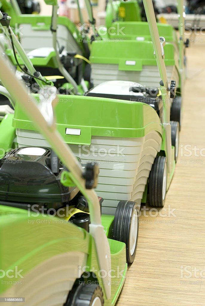Grass cutters stock photo