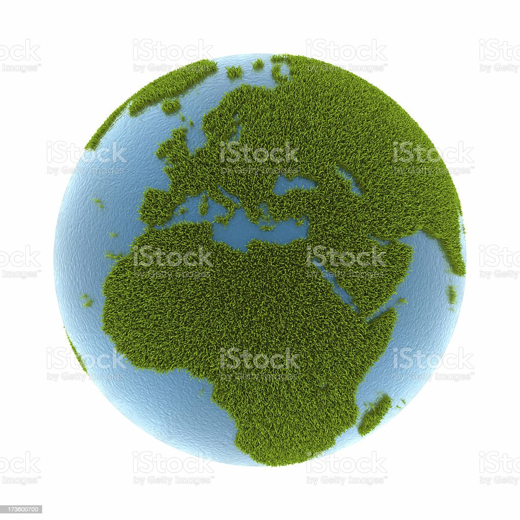grass earth - Europe & Africa royalty-free stock photo