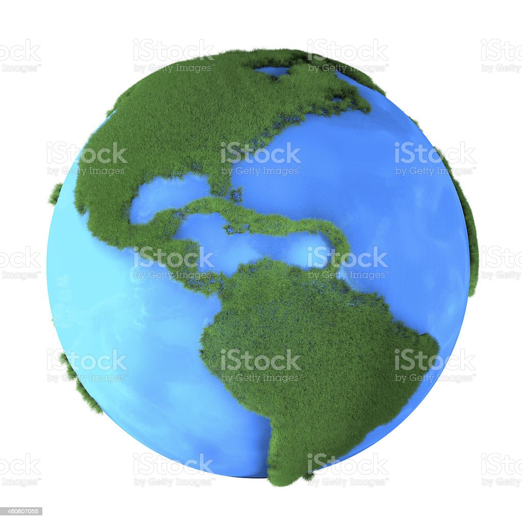 Grass Earth stock photo