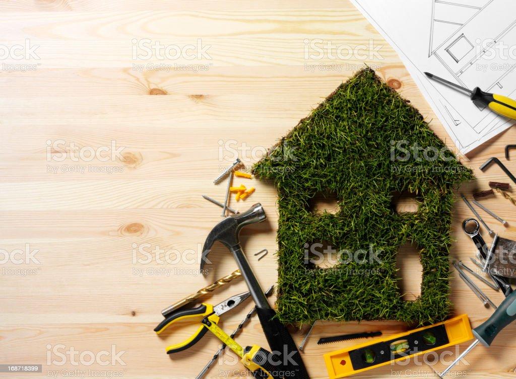 Grass Environment House royalty-free stock photo