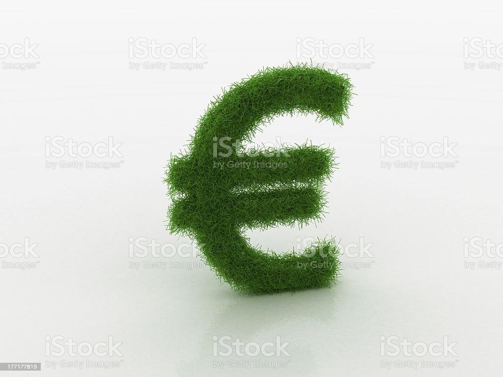 grass € euro royalty-free stock photo