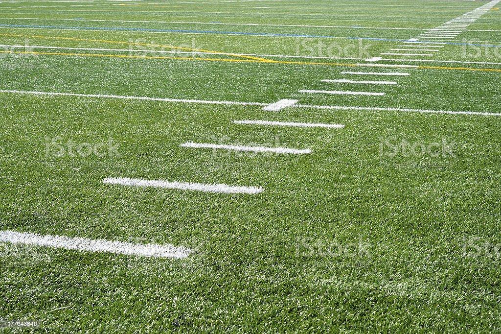 Grass Football Field royalty-free stock photo