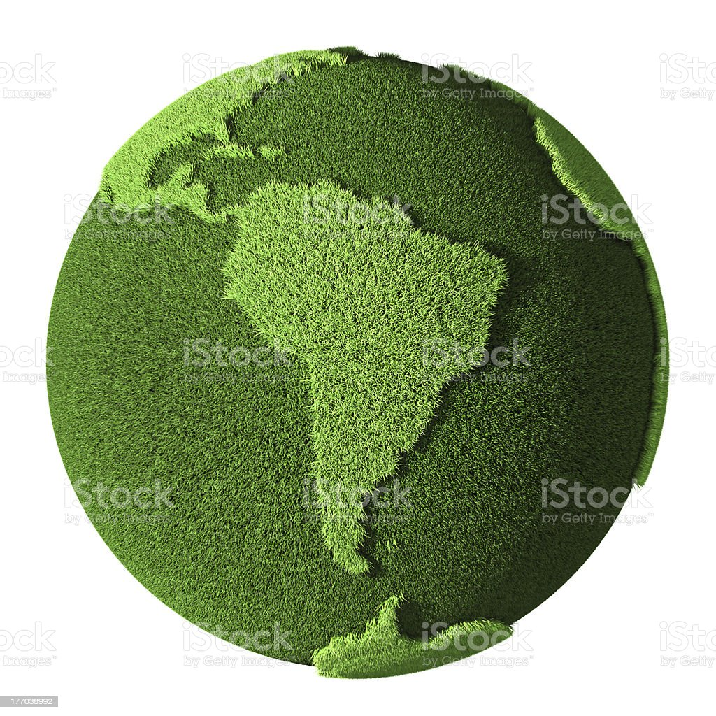 Grass Globe - South America stock photo