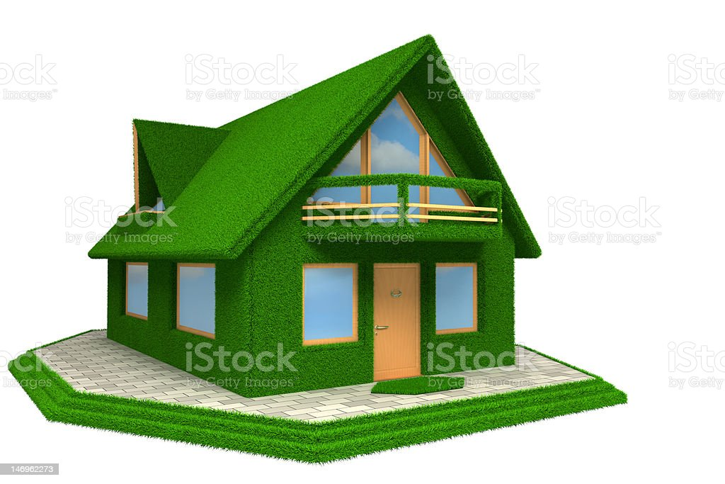 Grass House royalty-free stock photo