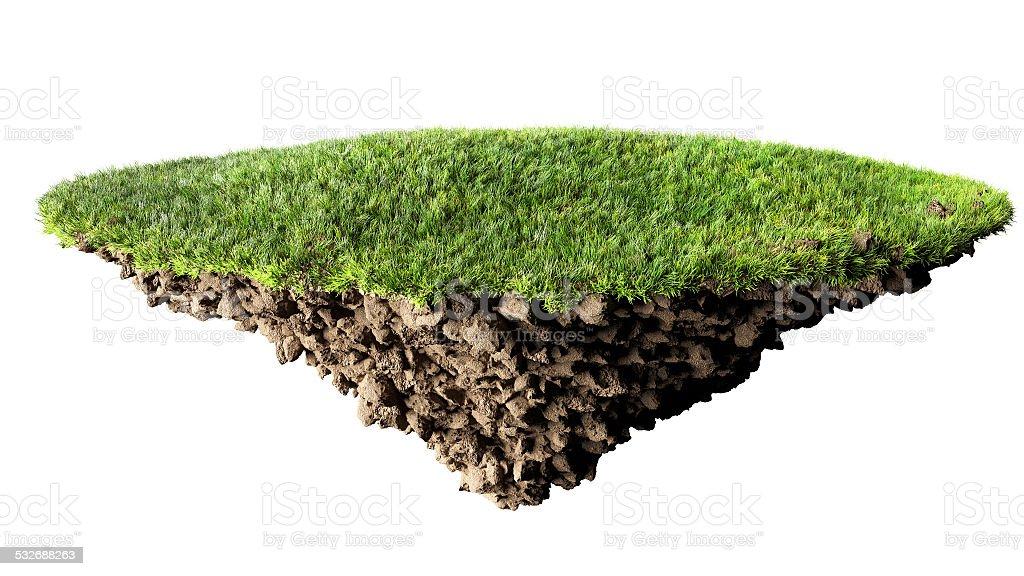 grass island stock photo