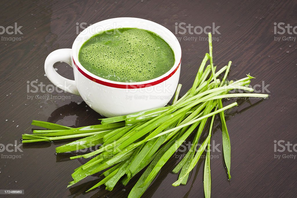 grass juice stock photo