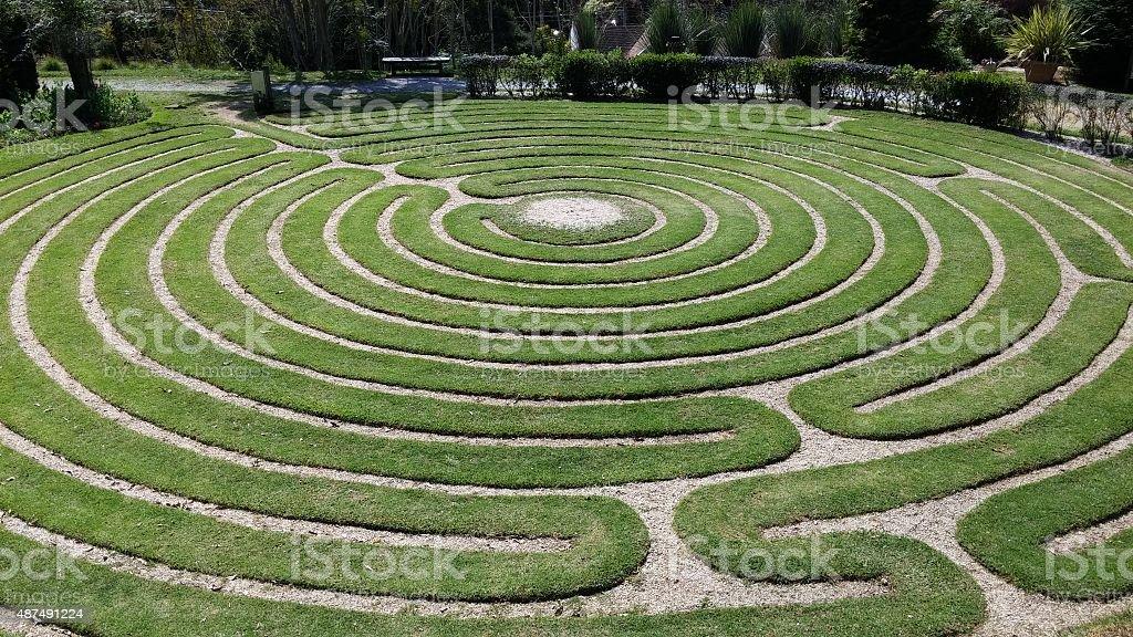 Grass Labyrinth stock photo