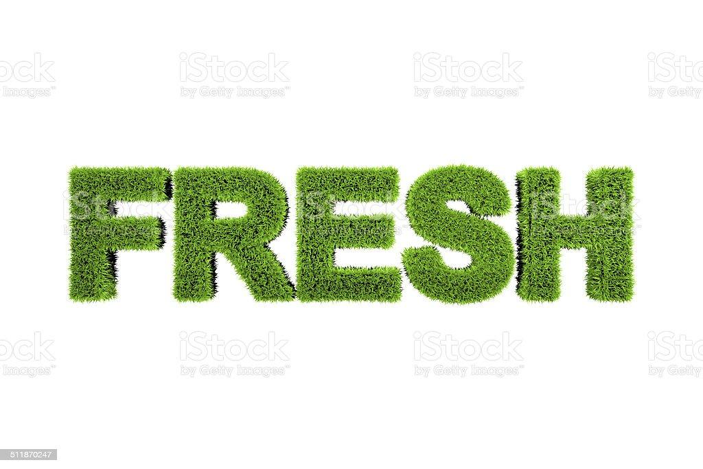 Grass made word fresh stock photo
