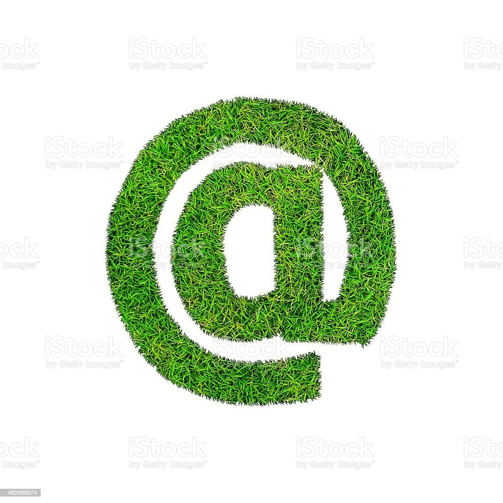grass mail sign isolated on white stock photo