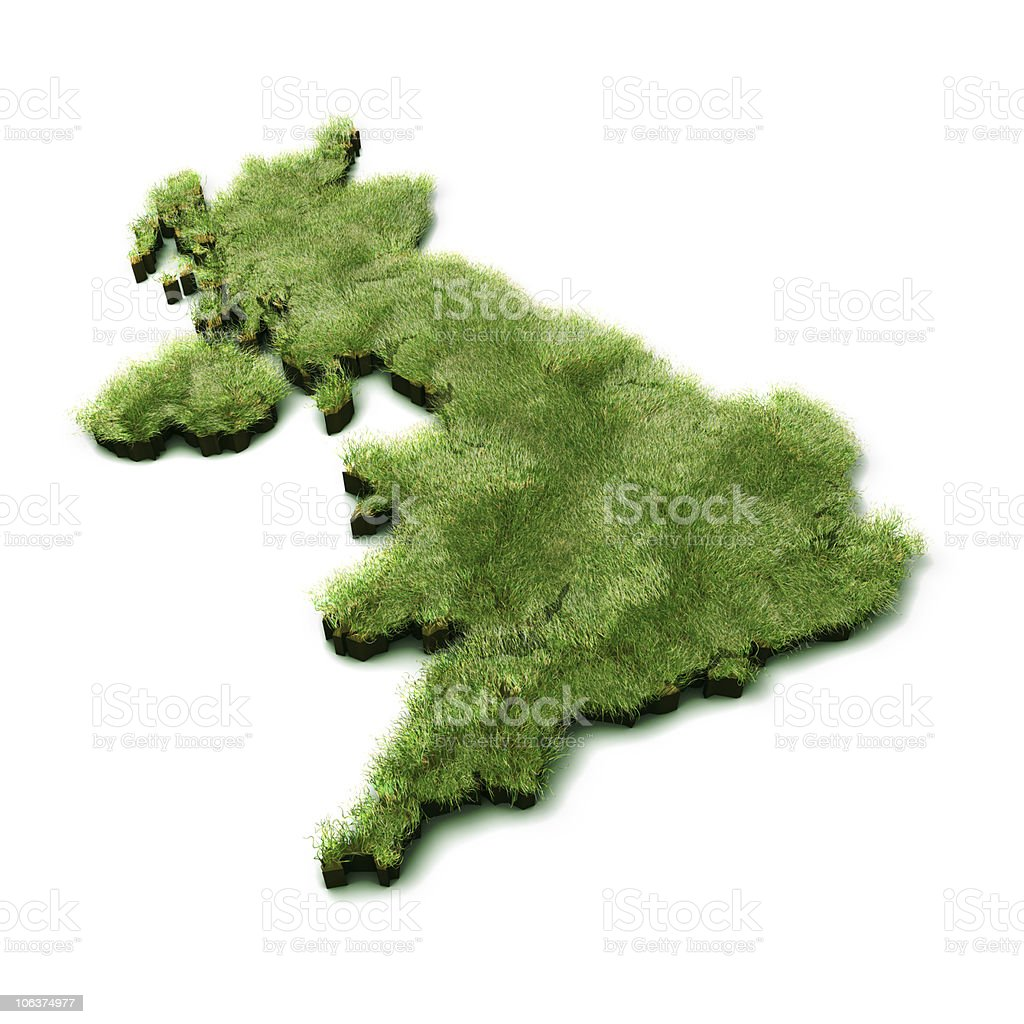 Grass Map of UK royalty-free stock photo