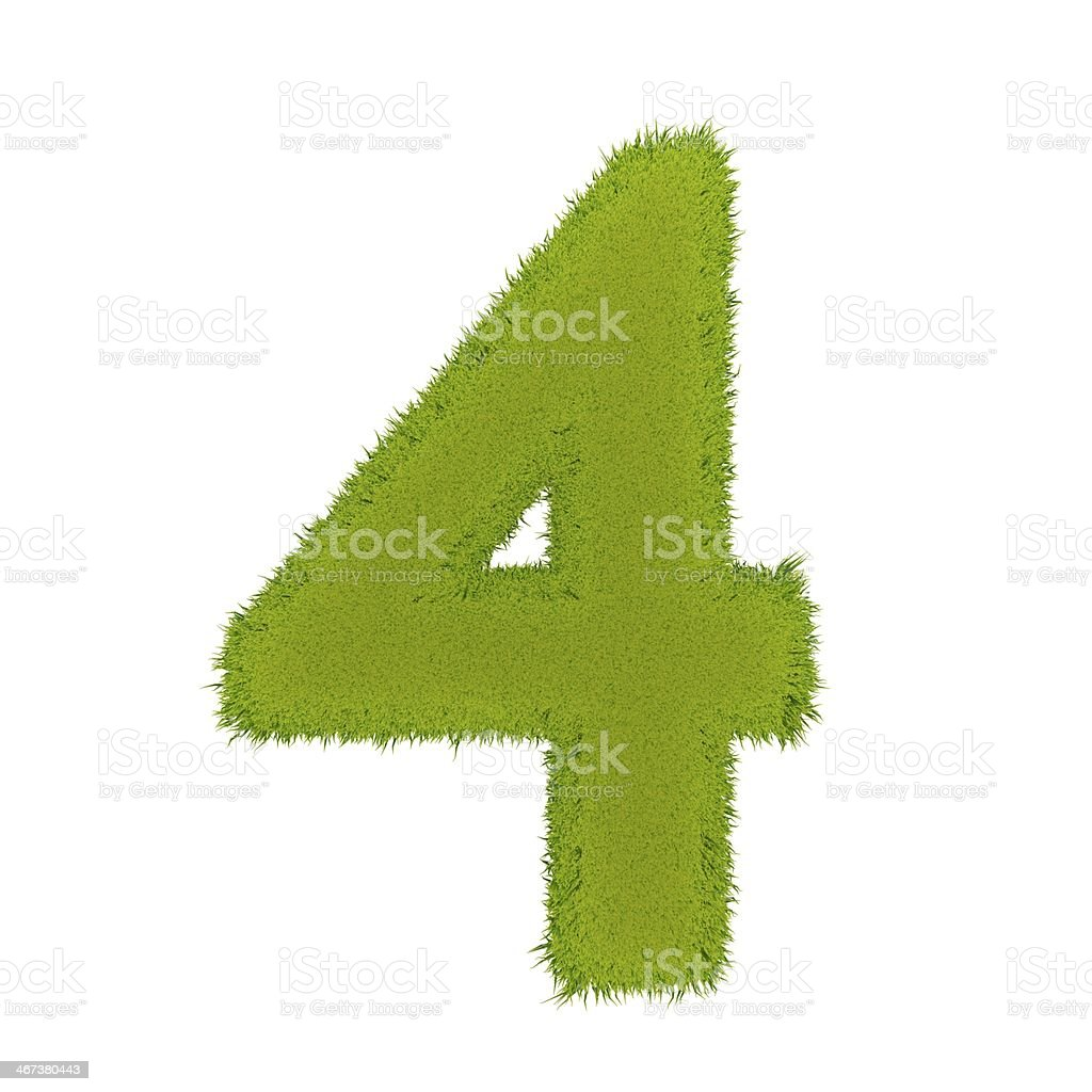 Grass number 4 royalty-free stock photo