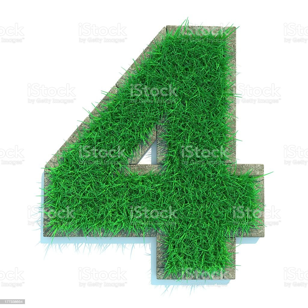 Grass Numbers royalty-free stock photo