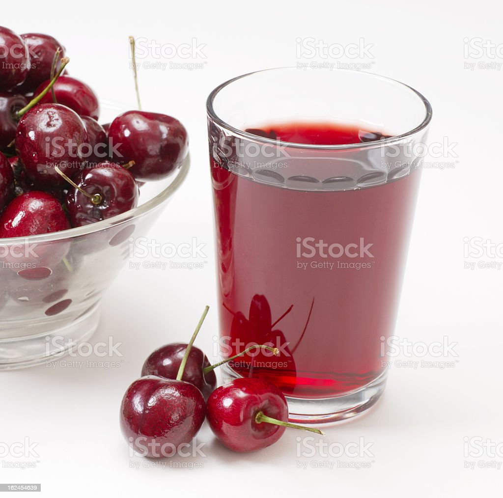 Grass of Cherry Juice stock photo