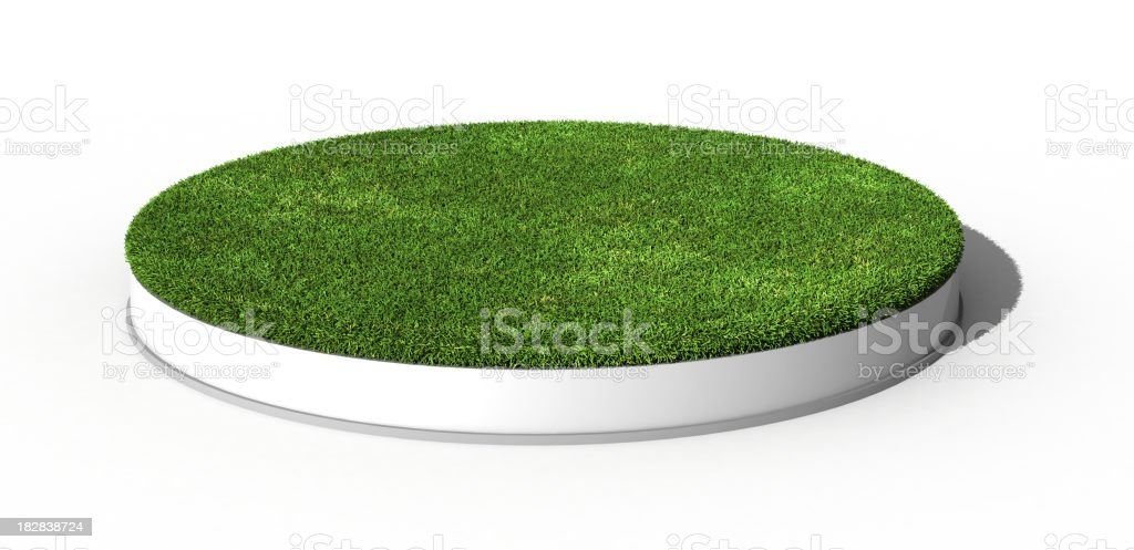 Grass Podium stock photo