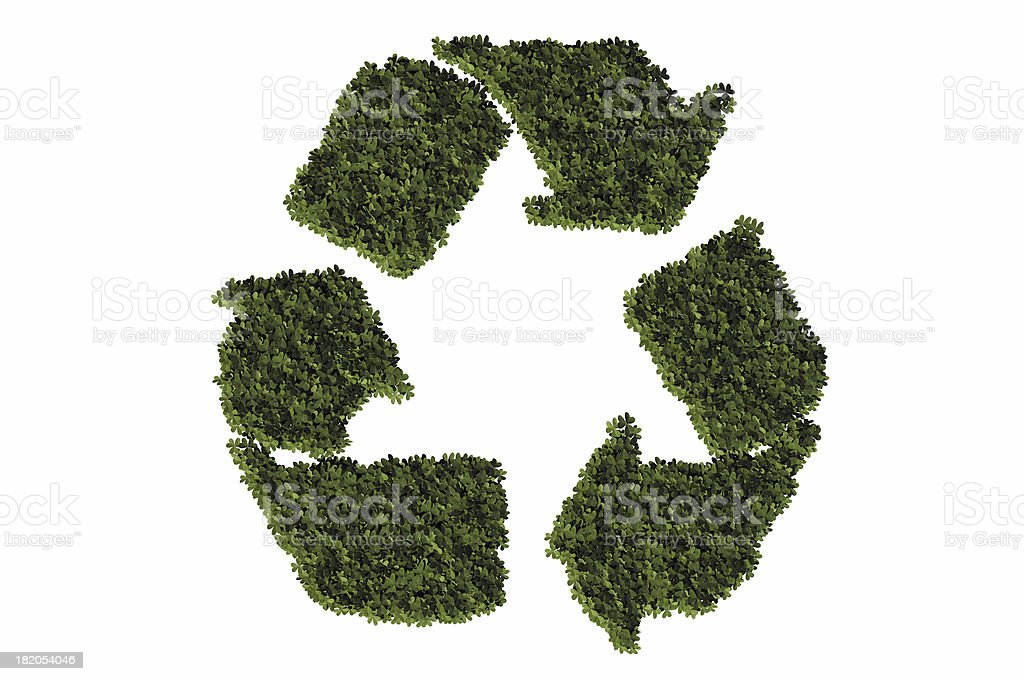 Grass recycle symbol royalty-free stock photo