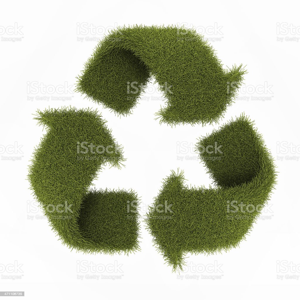 grass recycling royalty-free stock photo