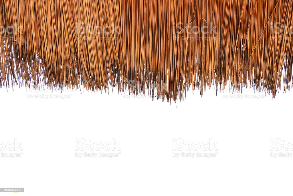 Grass roofs ,Thatched,on  white background cutout stock photo