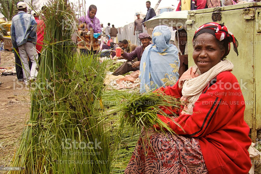 Grass seller woman royalty-free stock photo