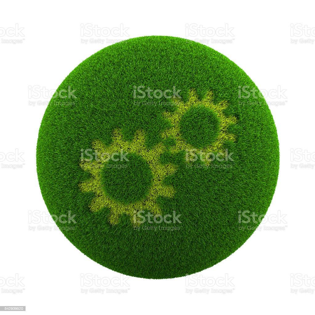 Grass Sphere Configuration stock photo