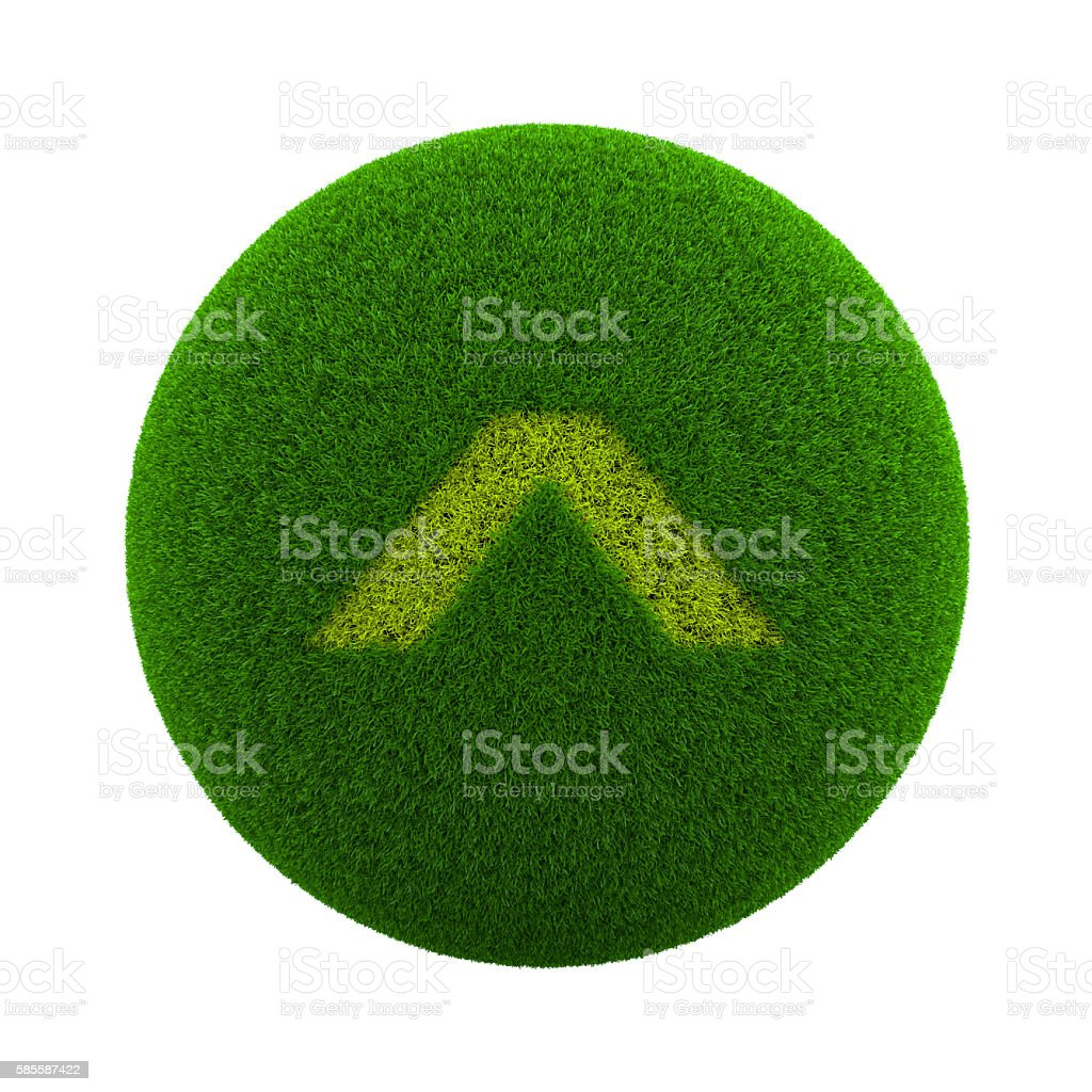 Grass Sphere Page Up Symbol stock photo