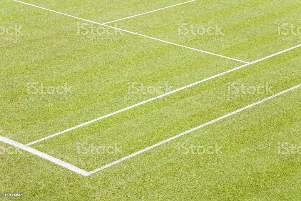 Grass tennis court royalty-free stock photo